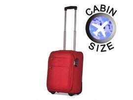 "Mała walizka ""MINI"" PUCCINI EM-50307 D czerwona"